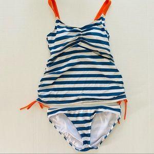 Oh Baby | Maternity Tankini Stripe Swimsuit M